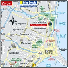 Moses Mabhida Stadium, Durban, South Africa Map