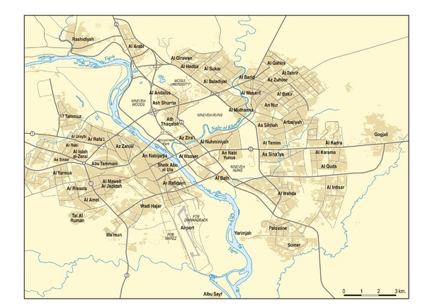 Mosul Area Map