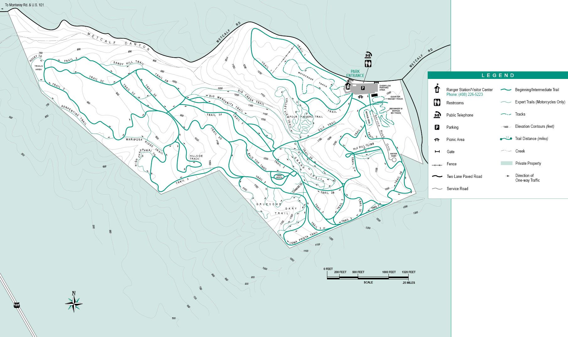 Motorcycle County Park Map San Jose CA USA mappery