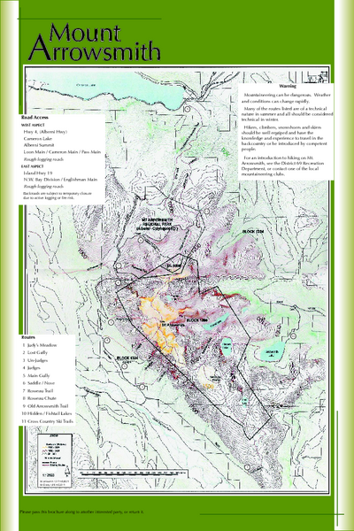 Mount Arrowsmith Climbing Route Map
