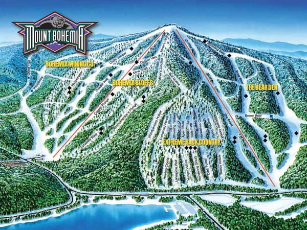 Mount Bohemia Frontside Ski Trail Map