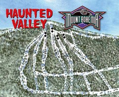 Mount Bohemia Haunted Valley Ski Trail Map