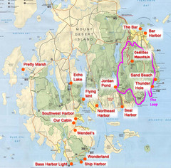 Mount Desert Island Tourist Map