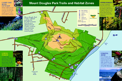 Mount Douglas Park Trails and Habitat Zones Map