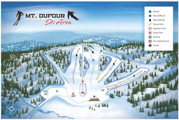 Mount Dufour Ski Trail Map