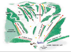 Mount Frontenac Ski Trail Map