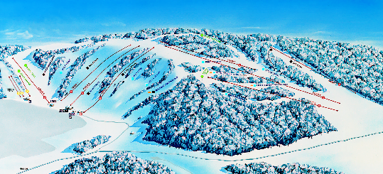 Mount Kato Ski Area Ski Trail Map