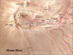 Mount Meru Physical Map