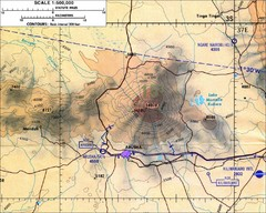 Mount Meru Topographic Map