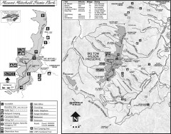 Mount Mitchell State Park map