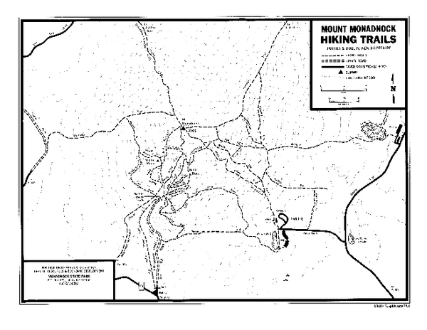 Mount Monadnock State Park Map