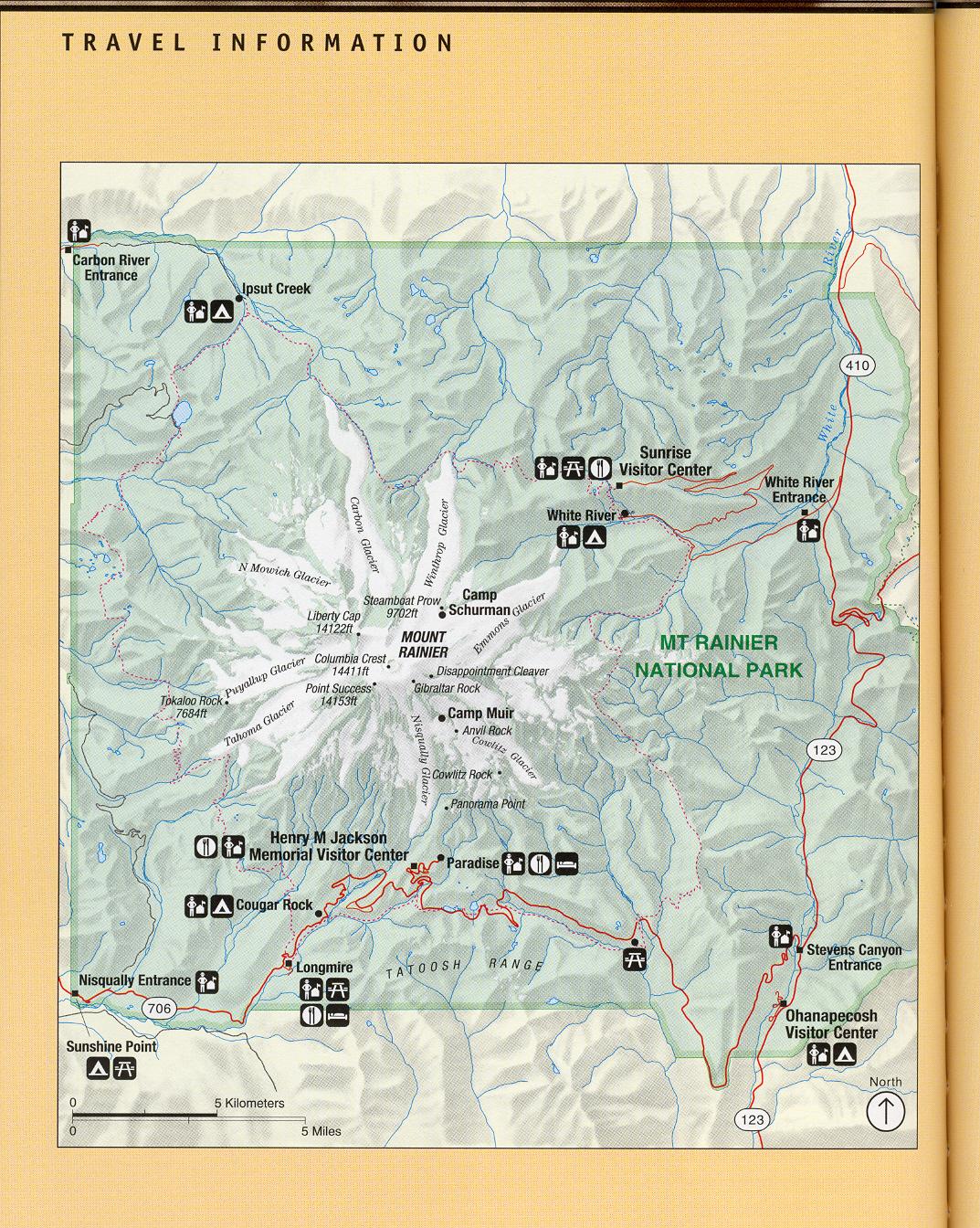 Mount Rainier National Park Map Mount Rainier WA US Mappery - Map of us mount ranier