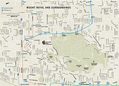 Mount Royal and Surroundings Map