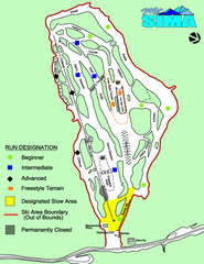 Mount Sima Ski Trail Map