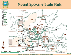 Mount Spokane State Park Map