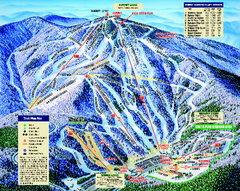 Mount Sunapee Ski Area Ski Trail Map