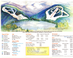 Mount Tone Ski Trail Map