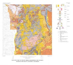 Mount Zirkel Wilderness and Vicinity Geologic Map