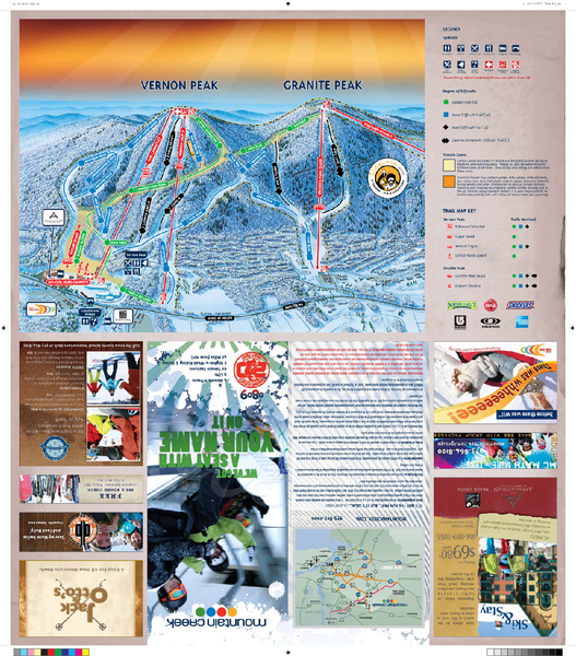 Mountain Creek North Ski Trail Map