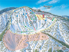 Mountain High Resort North Resort Ski Trail Map