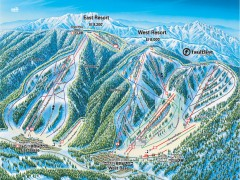 Mountain High Ski Trail Map - East and West Resort