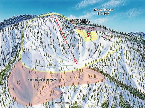 mountain high ski trail map