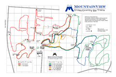 Mountain View Nordic Ski Trail Map
