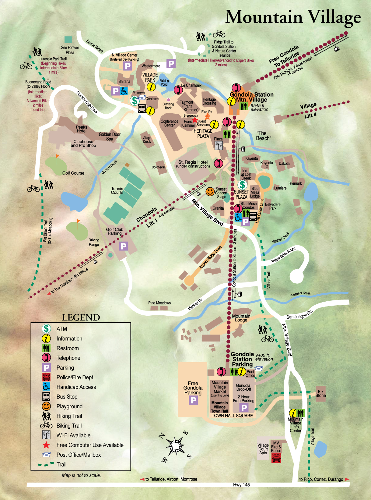 Mountain Village Tourist Map Mountain Village Colorado mappery – Tourist Map Of Colorado