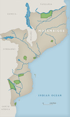 Mozambique National Parks Map