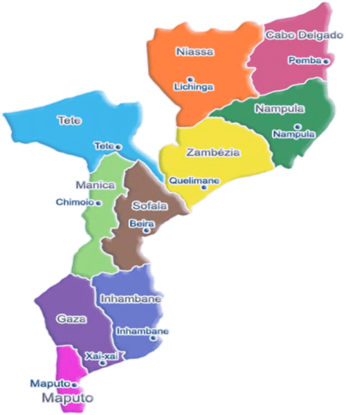 Mozambique Political Map mozambique mappery