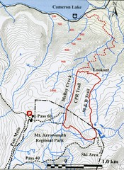 Mt. Arrowsmith Park CPR Historic Trail Map