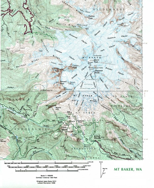 Mt Baker Topo Map Mt Baker Washington Mappery - Where to get topo maps for hiking
