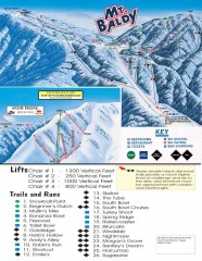 Mt. Baldy Ski Trail Map