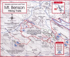 Mt. Benson Hiking Trail Map