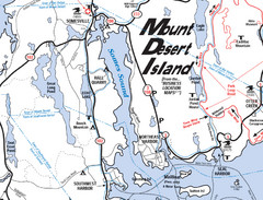 Mt. Desert Island Map