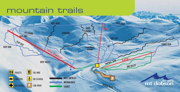 Mt. Dobson Ski Trail Map