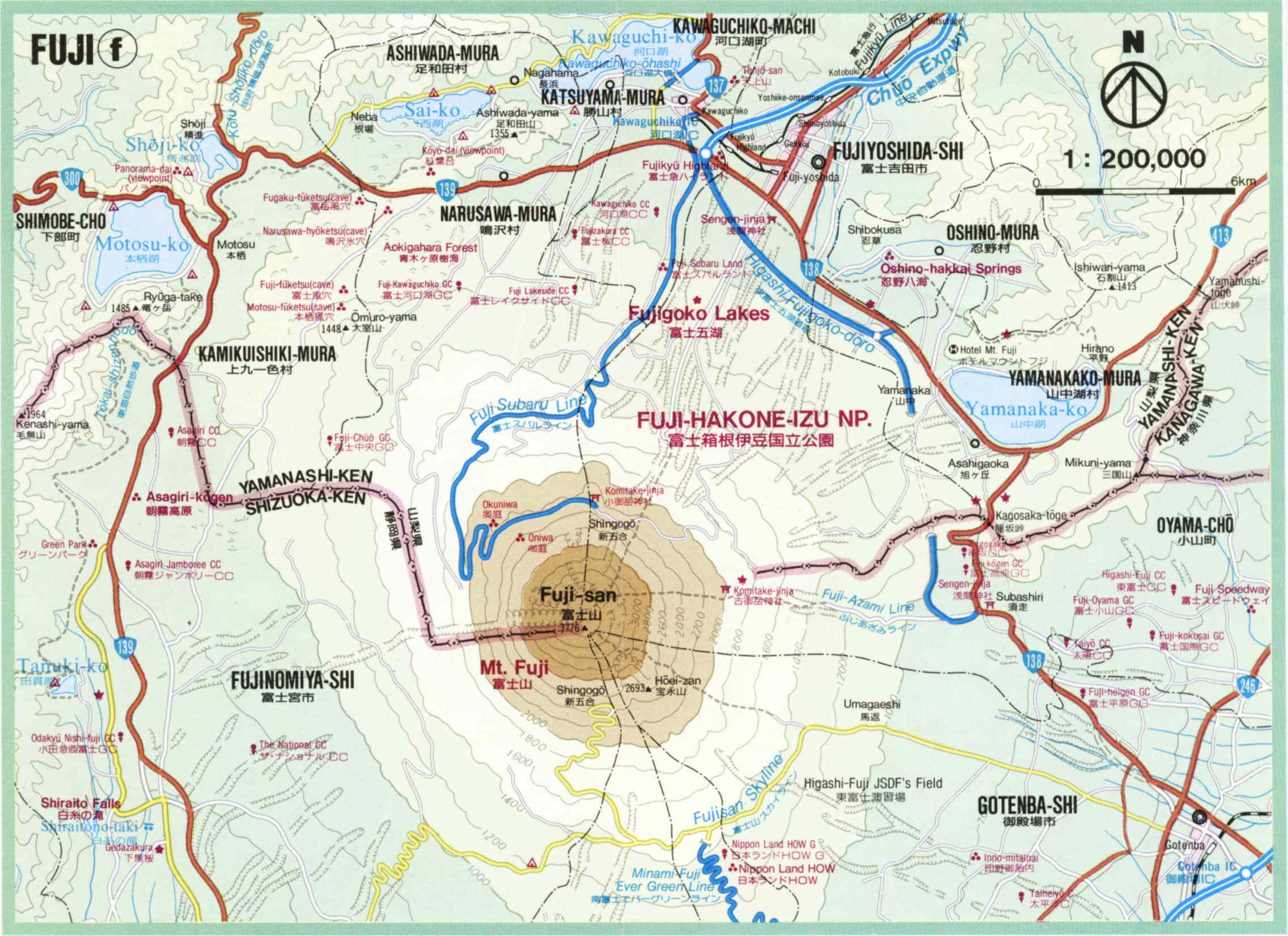 Map Of Japan 1600.Mt Fuji Area Map Mt Fuji Japan Mappery