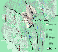 Mt. Grace State Forest trail map