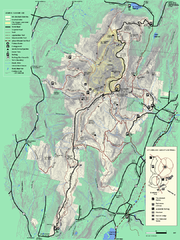 Mt. Greylock State Reservation summer trail map