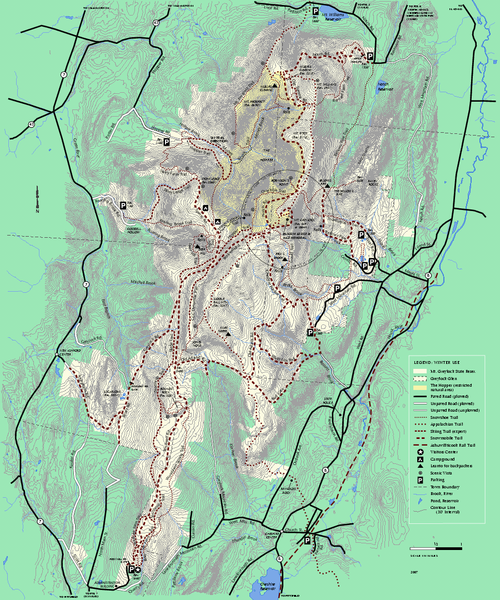 Mt. Greylock State Reservation winter trail map