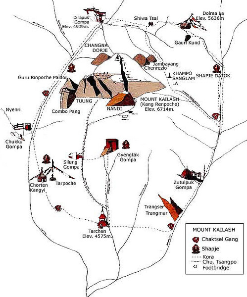 Mt. Kailash Hiking Map