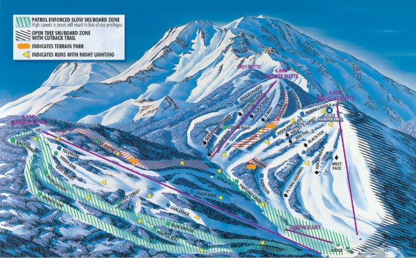 Mt. Shasta Ski Park Ski Trail Map