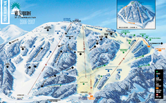 Mt. Spokane Ski Area Ski Trail Map