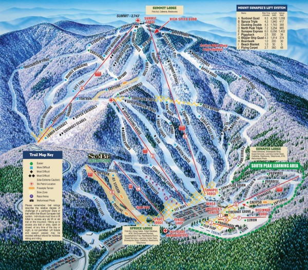 real life map collection • mappery Ski Apache Trail Map on