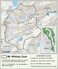 Mt. Whitney Zone Map
