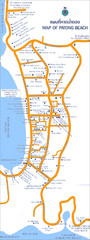 Muang Patong Beach Tourist Map
