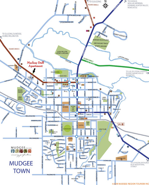 Mudgee Town Map