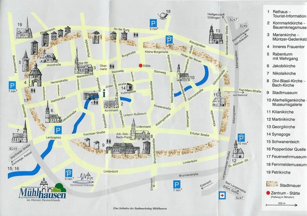 Muhlhausen City Map Muhlhausen Germany mappery – Munich City Map Tourist