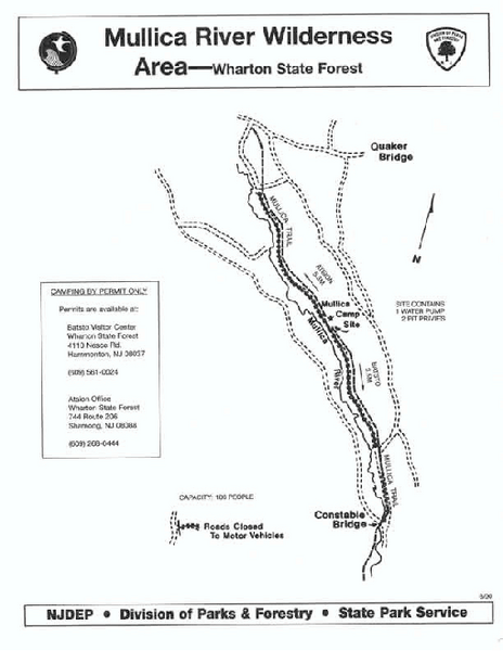 Mullica River camp area map