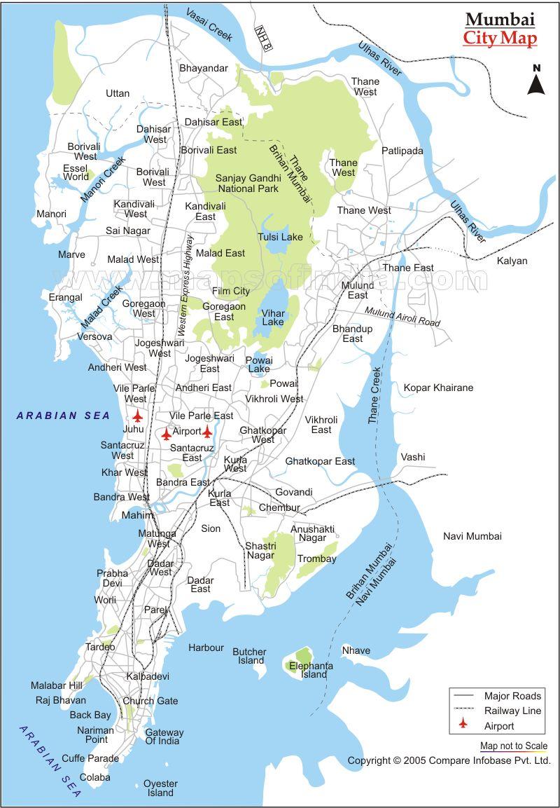 Mumbai City Map - Mumbai India • mappery MUMBAI MAP